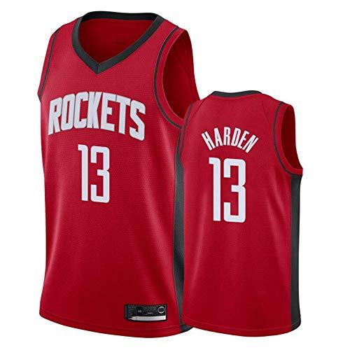 Camiseta de Baloncesto para Hombre,Hombres Mujeres Jersey - NBA Rockets 13# Harden Jerseys Transpirable Bordado Baloncesto Swingman Jersey