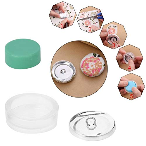 Self Cover Buttons, Buttons to Cover with Flat Backs, 10 Set Round Button Base, DIY Fabric Covered Button Kit, Size 20mm 25mm 30mm 40mm Optional(30mm)