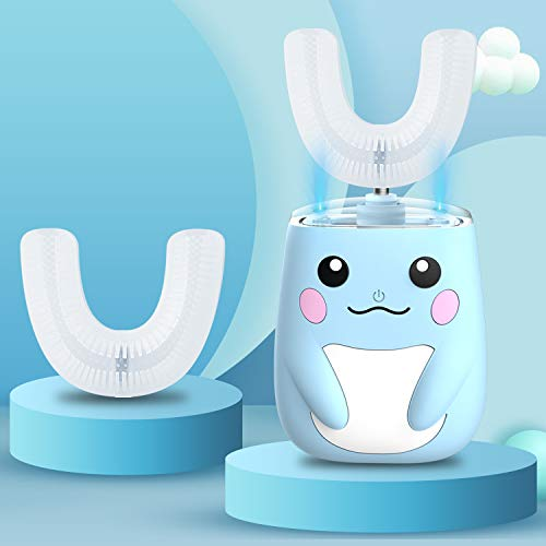 RZM Kids Automatic Sonic Toothbrush- an Ergonomic U-Shaped Toothbrush with six Modes for 360° Sensitive Oral Tooth Cleaning(Blue,2-7 Years Old)…