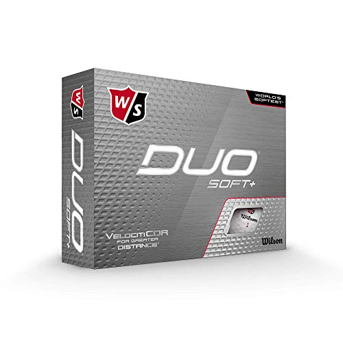 Wilson Staff DUO Golf Ball, Soft +, White