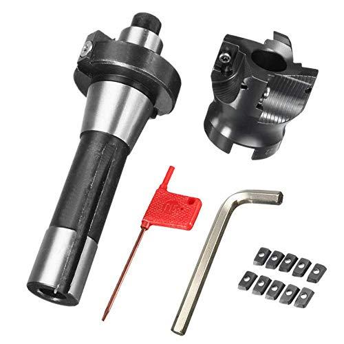 Cenador R8 FMB22 con Cortador de fresado Frontal 400R 50 mm y Herramienta de Insertos de carburo APMT1604 de 10 Piezas