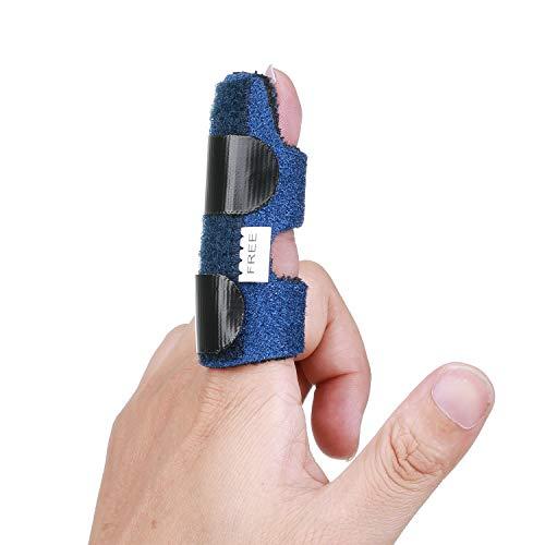 Fingerorthese Verstellbar Finger-Schiene für Finger Frakturen Brace,Finger Splint für Tendon Release Fixierung Der Finger,Fingerschiene mit Aluminium Unterstützung für Schmerzlinderung Beheben