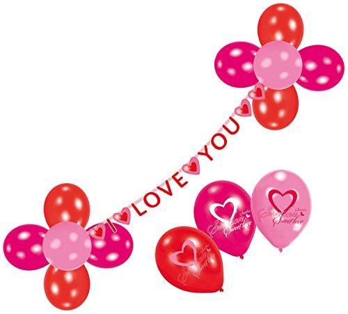 amscan - 450284 - Ballons et Guirlande I Love You