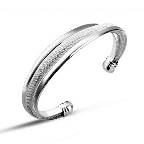 HOT Sale massiv 925 Silber Fshion Jewelry Armreif, Silber, Weiß,