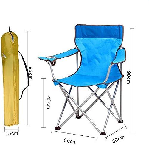 LIUYIAO Chaise Pliante Camping portable Table Et Chaises Pliantes Loisirs Plage Croquis Chaise De Pêche Est Très Approprié pour Le Voyage De Camping Chasse à La Pêche,lumièrebleu