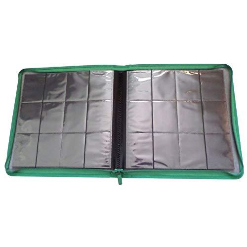 docsmagic.de Premium Pro-Player 12-Pocket Playset Zip-Album Dark Green - 480 Card Binder - MTG - PKM - YGO - Cremallera Verde Oscuro