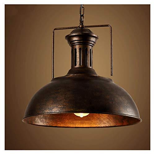 Iluminacion colgante Lámpara colgante industrial Luz pendiente retro iluminación industrial Loft de una sola cabeza de la lámpara del restaurante del hierro (Color : Brass)