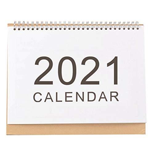 DDyna Calendario Simple Eventos creativos 2021 Empresa Accesorios de Oficina de Escritorio Calendario del hogar Blanco - S