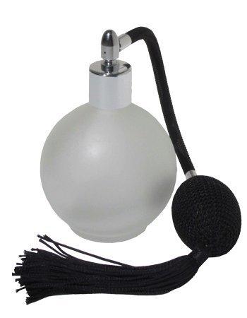 Esmerilado de cristal redondo vacío rellenable frasco de Perfume atomizador de spray,...