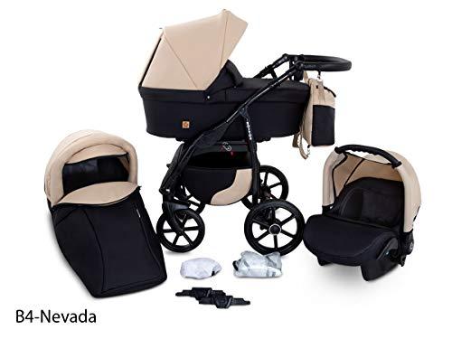 GaGaDumi Boston Passeggino TRIO baby Carrozzina Trio Seggioliono OVETTO AUTO Sistemi modulari (B4-Nevada)
