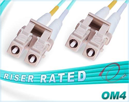 FiberCablesDirect - 1.5M OM4 LC LC Fiber Patch Cable   100Gb Duplex...