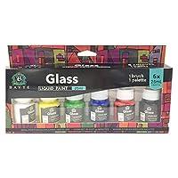 キッズペイント、Deaum 6 x25mlヘビーボディカラーリッチピグメントガラスペイントセット絵画工芸品用