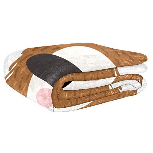 AIBILI Manta de tamaño – para todas las estaciones, ligera y afelpada hipoalergénica – mantas de microfibra para cama, sofá o viaje (152,4 x 203,2 cm), color marrón