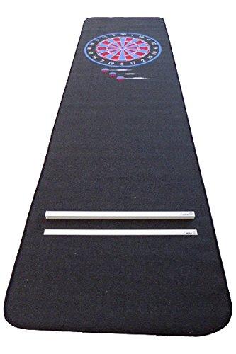Dartteppich Darts Teppich Dartmatte E-Dart rot/blau mit Abwurflinie Oche passend für Löwen Dart