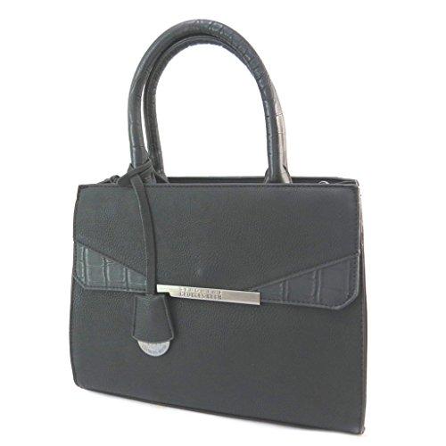 Bolso creativo 'Georges Rech'negro - (3 compartimentos)- 29x22x13 cm.