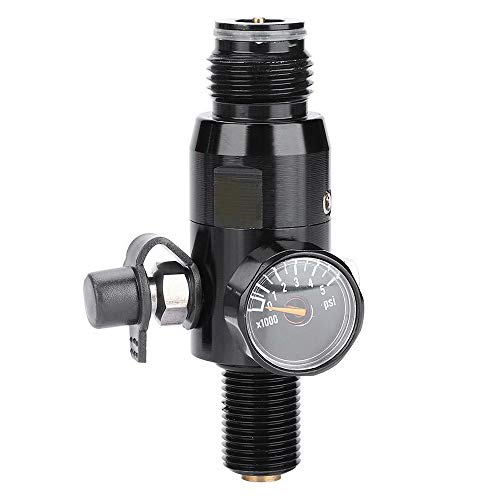 HPDAVV Paintball Air Tank Regulator & Valve Gauge - in:3000psi - Out:800Psi - Thread:5/8
