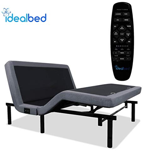 iDealBed 4i Custom Adjustable Bed Base, Wireless, Massage, Dual USB Charge, Nightlight, Zero-Gravity, Anti-Snore, Memory Pre-Sets, Zero (California King)