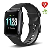 Letsfit Fitness Tracker, Smart Watch con Touch Screen da 1,3', Activity Tracker con cardiofrequenzimetro, IP68, Impermeabile, contapassi, monitoraggio del Sonno, contapassi per Donne e Uomini