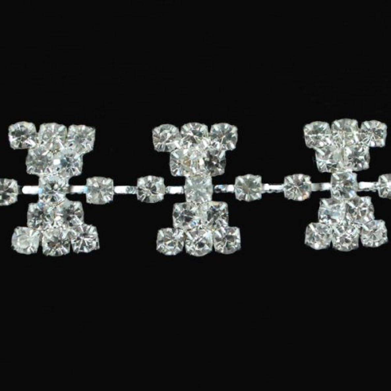 Expo International Rhinestone Chain Trim Embellishment, 5-Yard, Crystal