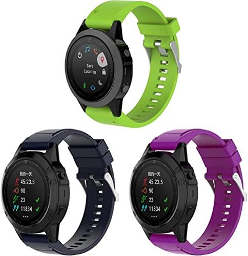 Classicase Correa de Reloj Compatible con Garmin Instinct/Instinct Solar/Instinct Tactical, Impermeable Reemplazo Correas...