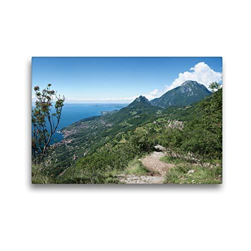 Premium Textil-Leinwand 45 x 30 cm Quer-Format Höhenweg bei Sasso am Gardasee | Wandbild, HD-Bild auf Keilrahmen, Fertigbild auf hochwertigem Vlies, Leinwanddruck von SusaZoom