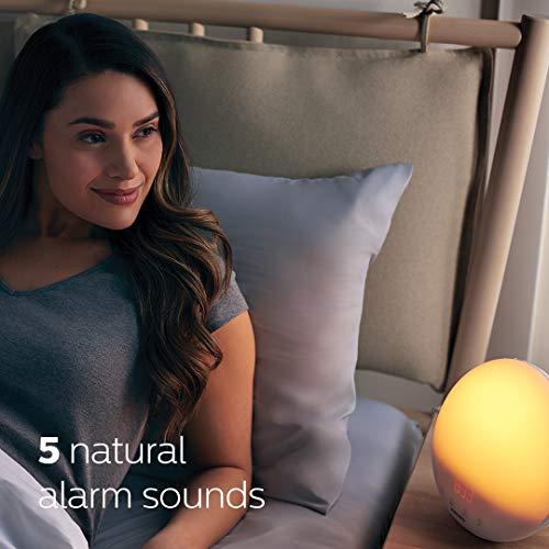 Philips HF3520/60 light therapy Luz para despertar LUXEON - Lámpara de ambiente (Luz para despertar, 300 lx, LUXEON, Naranja, Rojo, Amarillo, 40 min, Dormitorio)