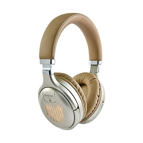 EWQK Auriculares inalámbricos Auriculares Bluetooth HiFi Plegable HiFi Estéreo Auriculares de Juego Admite la Auricular de la Tarjeta SD FM para PC y teléfonos móviles para PC, Consolas y jueg