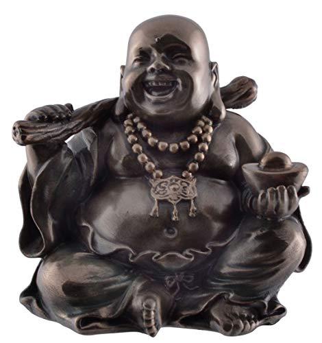 Veronese 708-7746 Lachender Glücks Buddha mit Stab und Perle Symbol für Gesundheit und Schönheit
