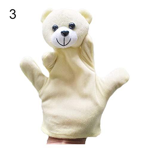 Changskj Felpa Marioneta Delicado bebé niño zoos Granja Animal Guante de Mano títere Dedo Juguete de Peluche (Color : 3)