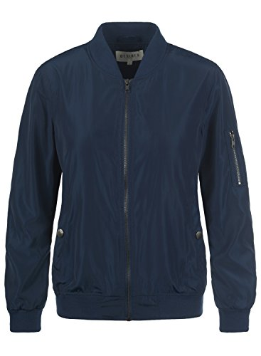 DESIRES Temari Damen Bomberjacke Übergangsjacke Jacke mit Stehkragen, Größe:S, Farbe:Insignia Blue (1991)