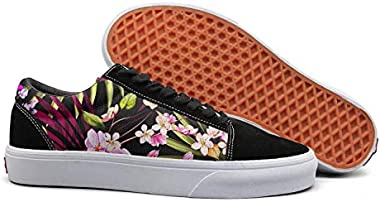 Landsr Summer Tropical Floral Hawaiian Art Women's Plate Shoes Old School Sneakers