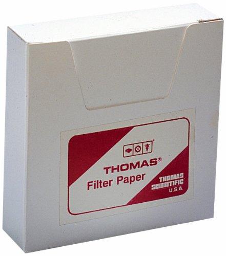 Thomas 6100-1100 Qualitative Filter Paper, 1.5 Micron, Grade, 11cm Diameter x 0.15mm Thick (Pack of 100)