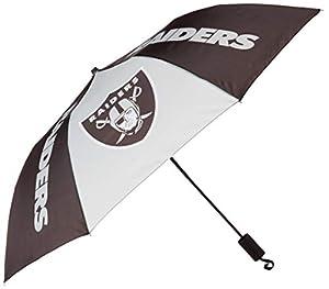 NFL Las Vegas Raiders Team Logo Umbrella, Team Color, One Size from Team Beans, LLC