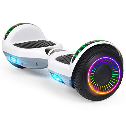 Felimoda Hoverboard, 6.5 Inch self Balancing Hoverboard with LED Light Flashing Wheel for Kids & Adult