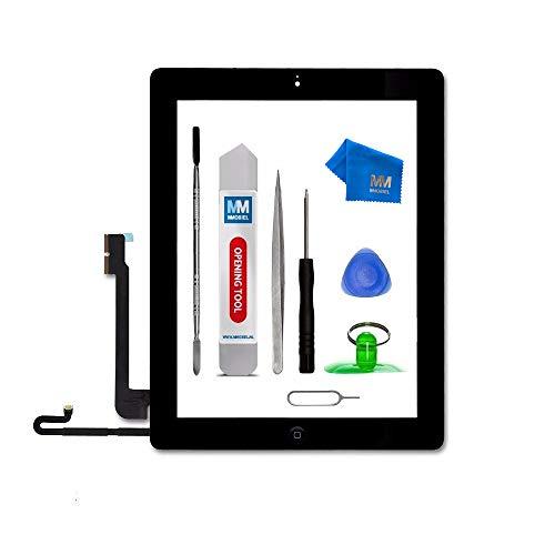 MMOBIEL Digitalizador Compatible con iPad 4 9.7 Plg. 2012 (Negro) Ensamble Pantalla táctil Frontal 9.7 pulg. Incl. Kit de htas.