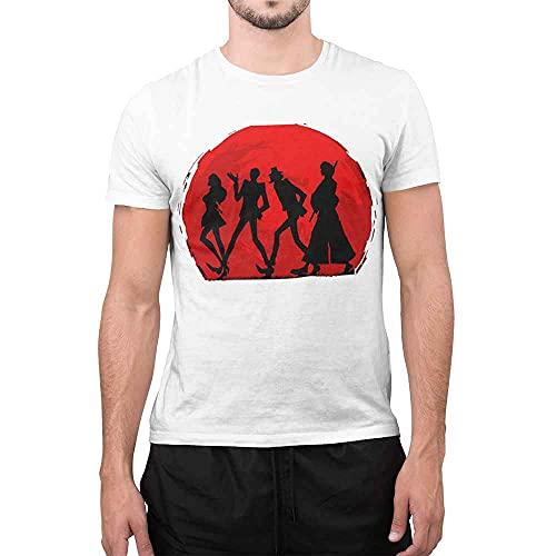 maglia lupin CHEMAGLIETTE! T-Shirt Divertente Uomo Maglietta con Stampa Simpatica Lupin Red Back Bianco