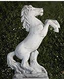 AnaParra Figura de hormigón clásica Caballo 27x32x85cm. - Figura, Escultura Romana Estilo jardín Ingles. - Hecho en España.