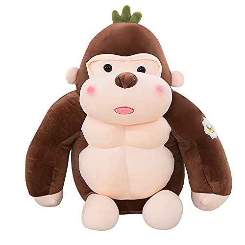 Cute Plushies, Noetoy Ultra-Soft Stress Relief Gorilla Stuff Animals, Kids Toddler Boys Girls Toys Gifts for Christmas Birthday Easter Thanks Giving Day.(Brown, 15.7 ' / 40cm)