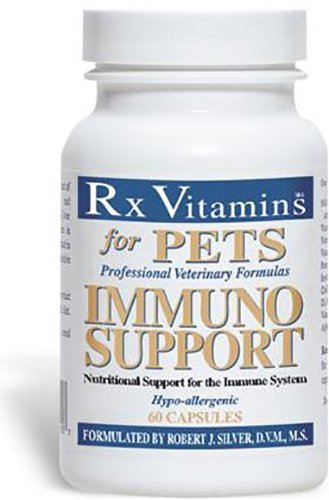Rx Vitamins for Pets Immuno Support for Dogs & Cats - Immune System Support - Help Brain Function Bones Muscles Stress & Aging - 60 Capsules