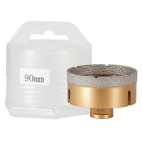 Melko Diamantbohrkrone M14 für Winkelschleifer Bohrkrone Diamantbohrer Nass+Trocken Fliesenbohrer - Größenauswahl (Ø 90 mm)