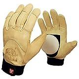 Fyytrl guantes deslizamiento cuesta abajo, guantes longboard resistentes desgaste con deslizante de pedernal, guantes de skate giro carretera, para bailar, deriva, protección de los dedos,e