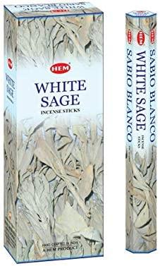 Hem White Sage 100 Incense Sticks (5 packs of 20 sticks)