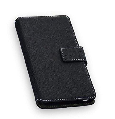 Elegantes Premium Bookstyle Handytasche Flip Hülle Wallet schwarz für