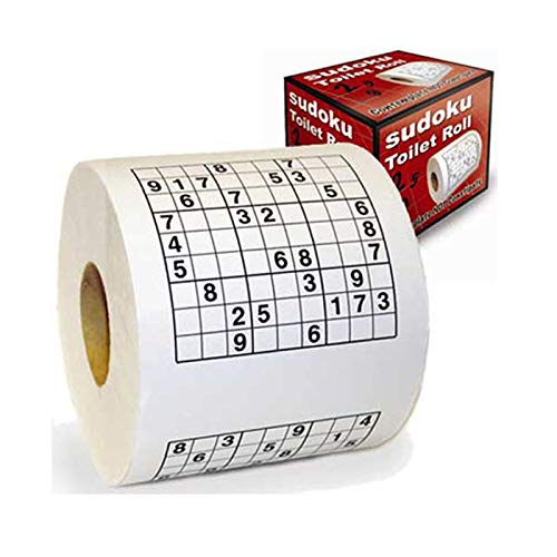 Monsterzeug Sudoku Klopapier, Sudoku-Toilettenpapier, Toilettenpapier mit lustigen Motiven, Lustiges Toilettenpapier, Klopapier mot Motiv