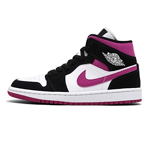 Nike Damen WMNS AIR Jordan 1 MID Basketballschuh, Black Cactus Flower White, 35.5 EU