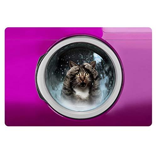 N/A Alfombras De Moda Alfombras De Piso 3D Animal Impreso Perro Gato Impreso Alfombra De Baño Codo De Computadora Alfombra De Desempolvado Alfombra De Piso Alfombras De Coche