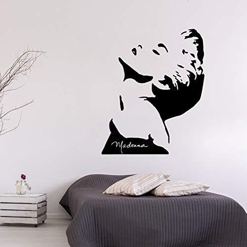 mlpnko Design Wandaufkleber Beauty Wandplakate Wohnkultur American Singer Vinyl Wandtattoo Art,CJX14010-55x67cm