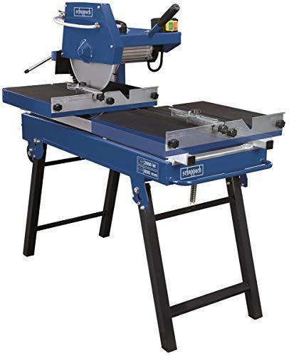 Scheppach HSM3500 Steintrennmaschine | bis 800 mm Kantenlänge | 100 mm Schnitthöhe | Fliesenschneider mit 2000 W | Sägekopf 45° neigbar