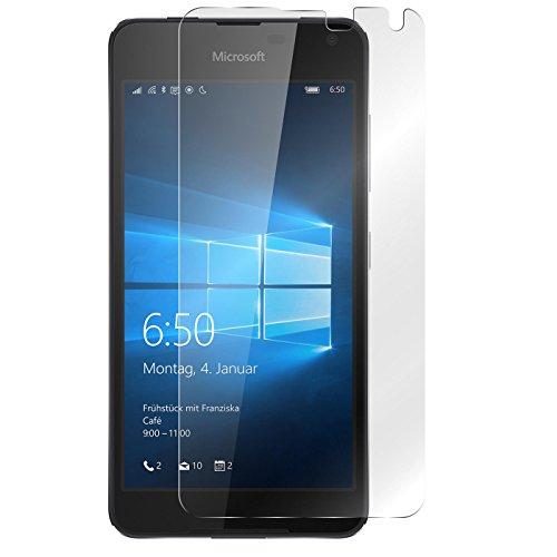 Conie 9H2018 9H Panzerfolie Kompatibel mit Microsoft Lumia 650, Panzerglas Glasfolie 9H Anti Öl Anti Fingerprint Schutzfolie für Lumia 650 Folie HD Clear