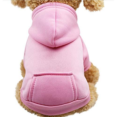 PONNMQ Polyester mit Kapuze Sweatshirts mit Taschen-Hund kleidet Haustier-Kleidung warmes Winterhundehaustier kleidet Qualität Dropshipping * 5, Marine-Blau, XS
